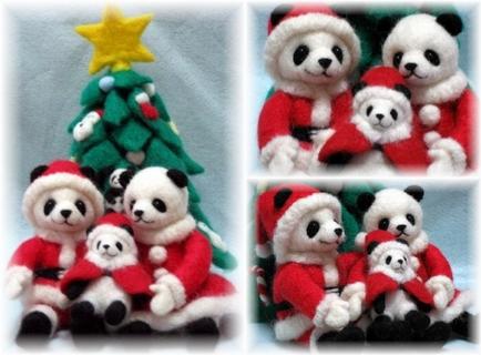 パンダ家族のクリスマス1