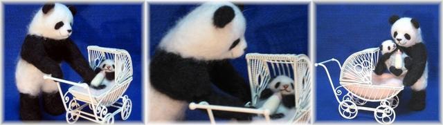 親子パンダのおさんぽ2