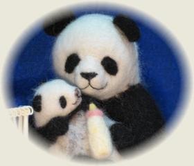 親子パンダのおさんぽ1