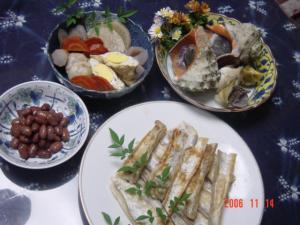 太刀魚と煮物