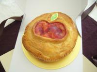 アップルパイ  林檎の絵が描いてあってかわいい