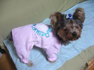 ピンクのパジャマ