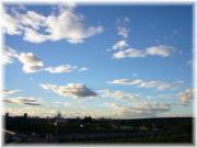 台風あとの夕方の空