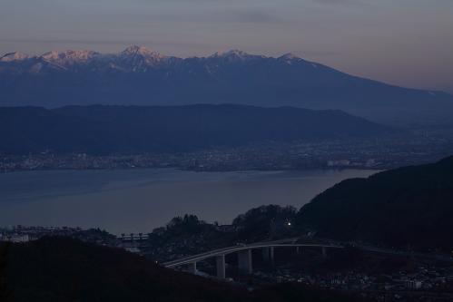 夕暮れ八ヶ岳