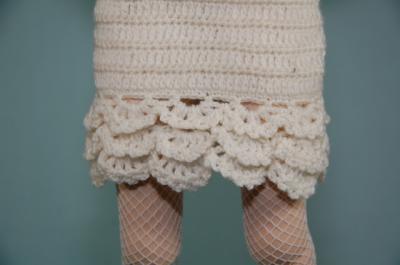 スカートの裾は