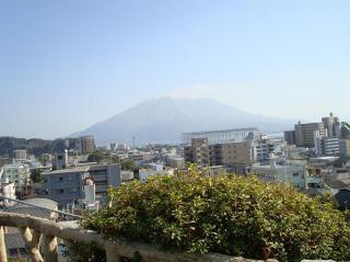 南洲神社より望む桜島 2008.1.5