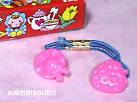 苺と帽子_ピンク