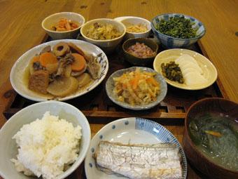 太刀魚塩焼き 白菜煮