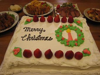 クリスマスイブの食卓