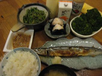 姉の作った晩ご飯