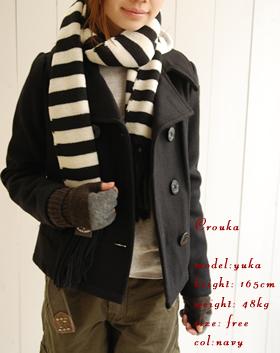 ワッペン付き p-coat