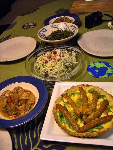 まりちゃんと夕ご飯