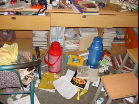 震后的宿舍