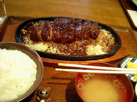 鉄板味噌カツ071208