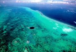 Belize Blue Hole from afar