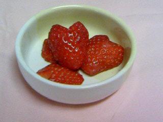 ハートのイチゴ