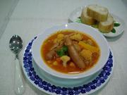 カリフラワーとレンズ豆のトマトスープ
