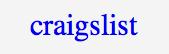 クレイグズリストのロゴ