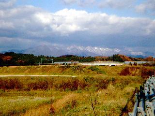 雪化粧の太平山