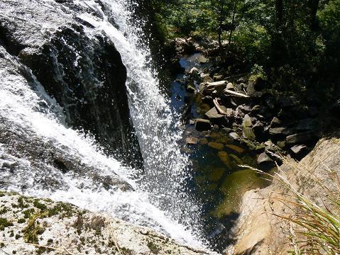 071006 安の滝 下の滝の天辺