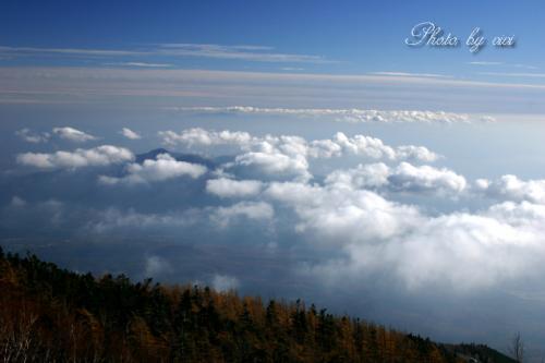 富士五合目から箱根山