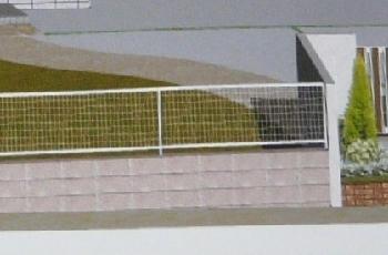 フェンスとブロック