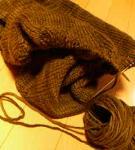 編みかけニットコート