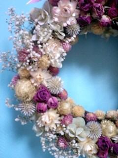 お花いっぱいリース