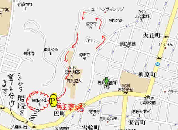 織姫神社地図