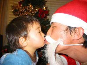 サンタとチュ